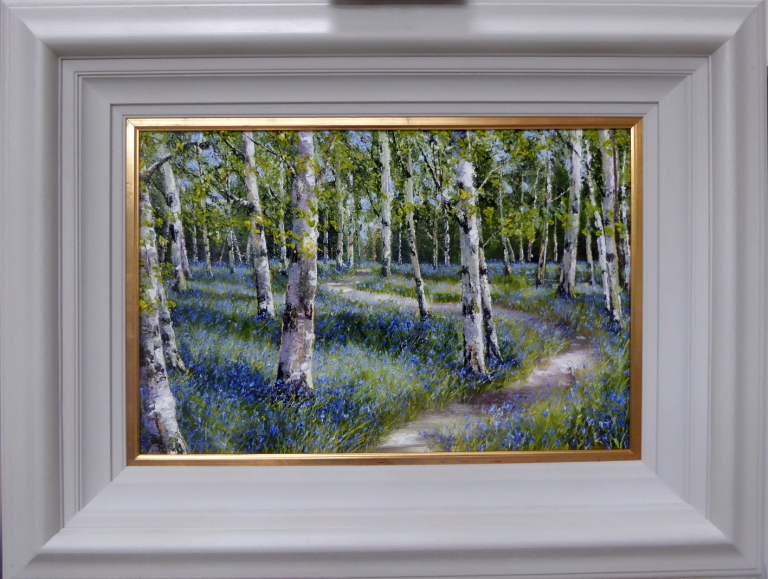 Silver Birch and Bluebells