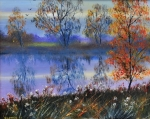 Autumn Light .,The river ouse, Norfolk